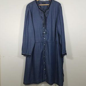 Tommy Hilfiger Chambray Long Sleeve Dress Size 24W